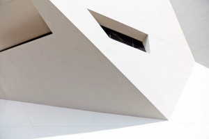 abstract white and black architect design building with shadows by airey spaces