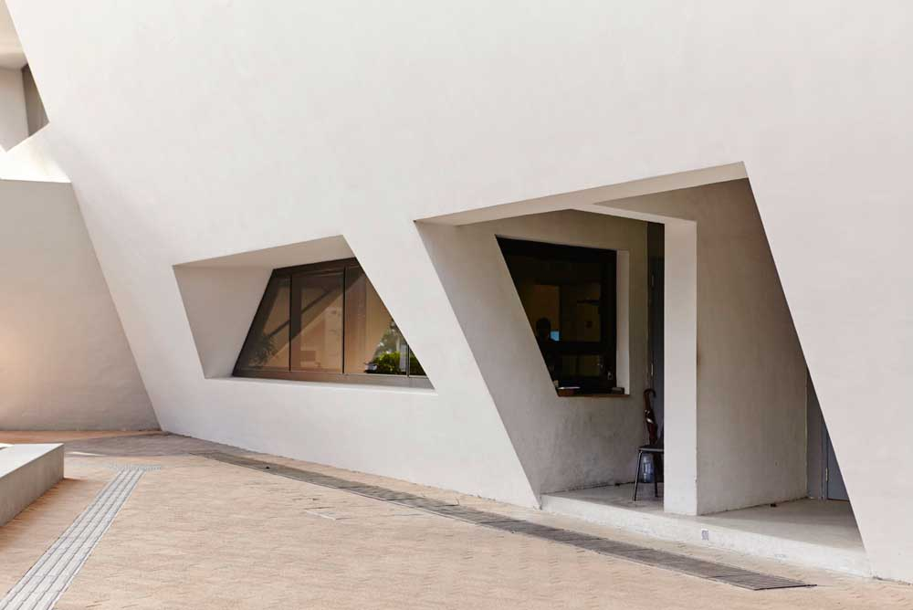 angular window and door of daniel libeskind architecture by airey spaces