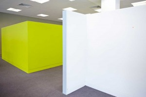 modern bright room dividers in london office space luminous green and white by airey spaces