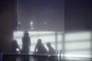 team meeting in london office shadow on wall by airey spaces