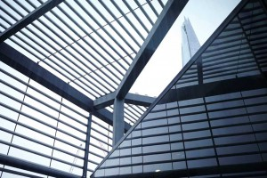 architectural abstract with lines of london offices by airey spaces