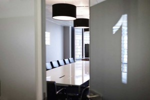 stylish meeting room of london offices in grey and black by airey spaces