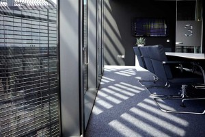 sunshine in stylish meeting room of london office space by airey spaces