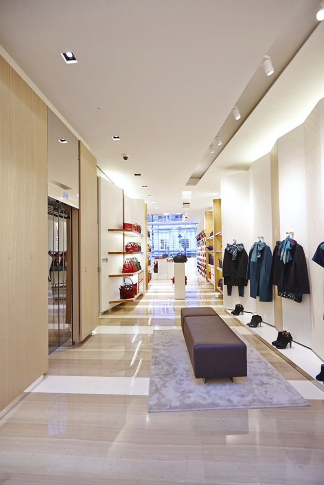 new shop fit out for longchamp store by airey spaces