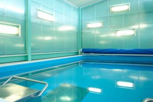 turquoise and blue current swimming pool by airey spaces