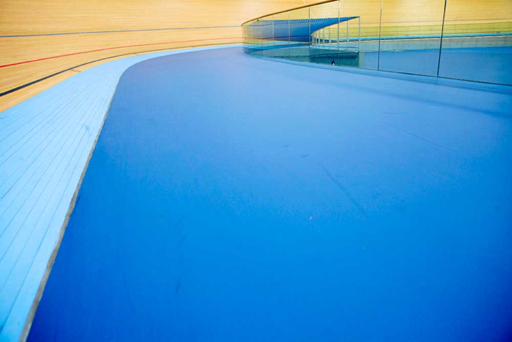 velodrome track at London 2012 Olympic arena by airey spaces