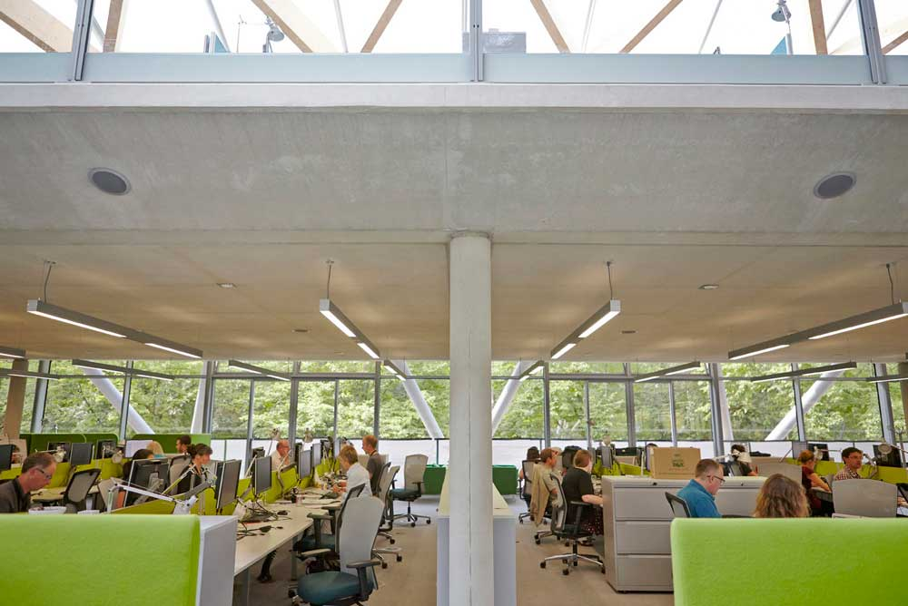 the living planet centre office working space in WWF building by Airey Spaces