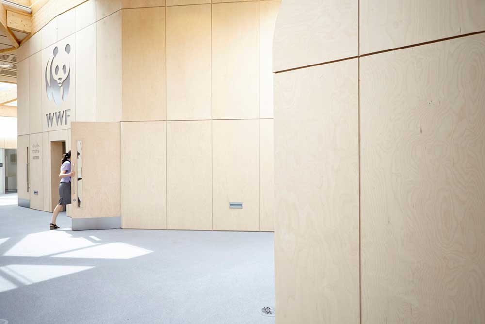 the living planet centre daylight space in WWF building by Airey Spaces