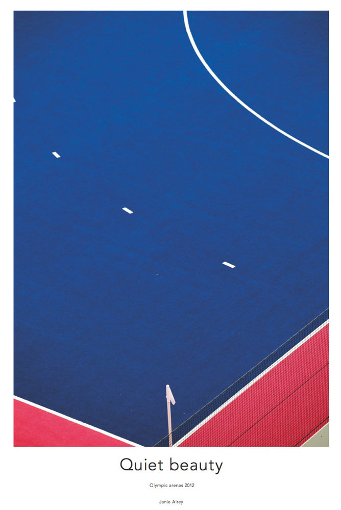 detail of blue and pink hockey pitch by airey spaces