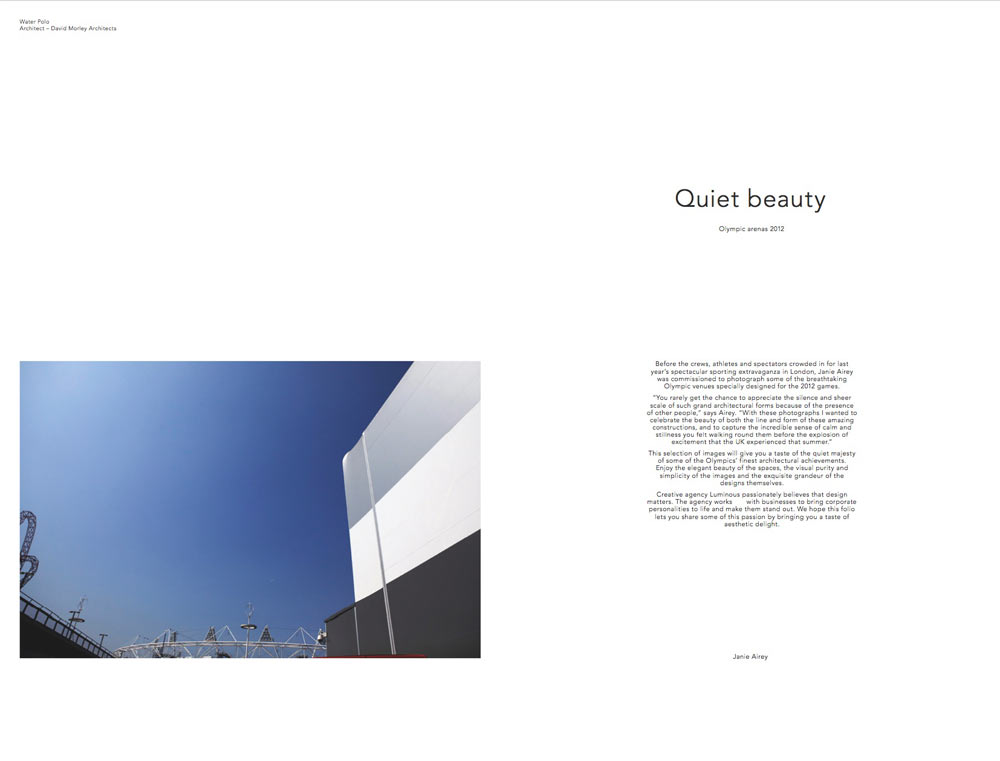 detail of water polo building and blue sky by airey spaces