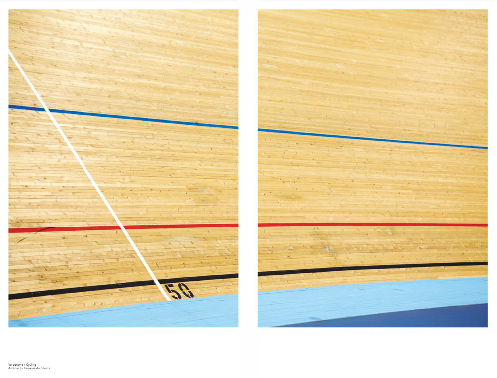 velodrome track detail graphic lines by airey spaces