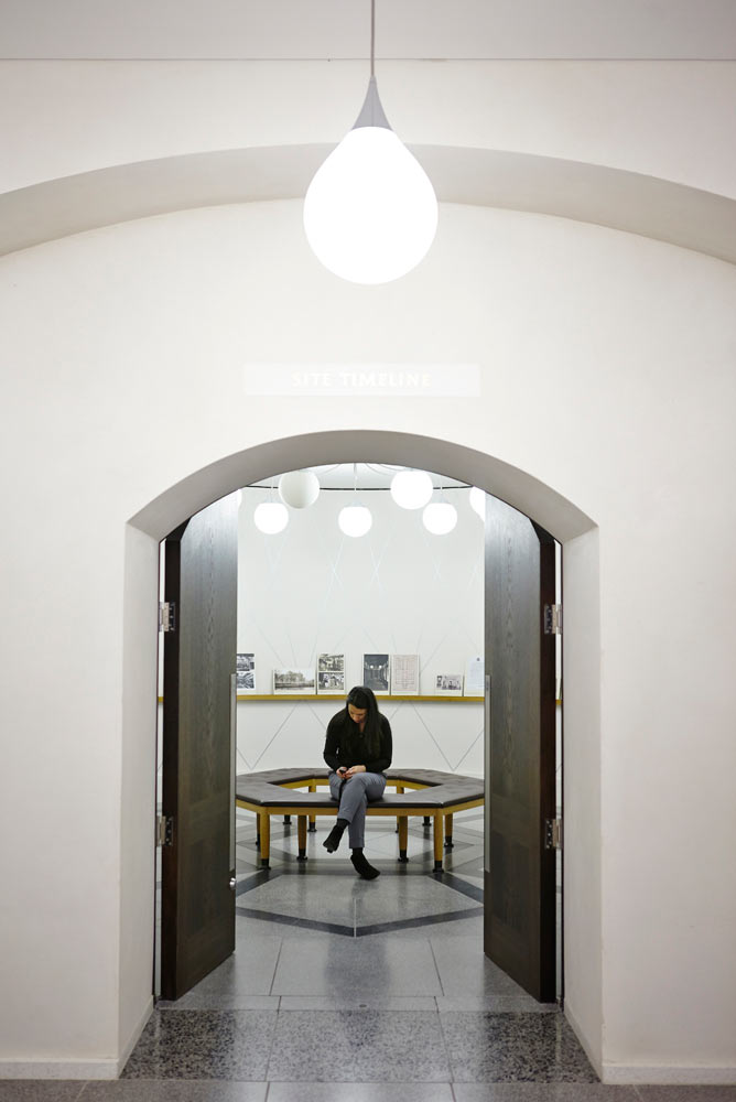 person in reading room tate britain by airey spaces