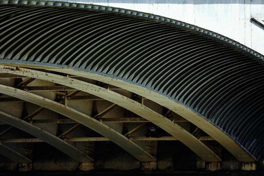 metal work on Battersea bridge, London by Airey Spaces photgraphy