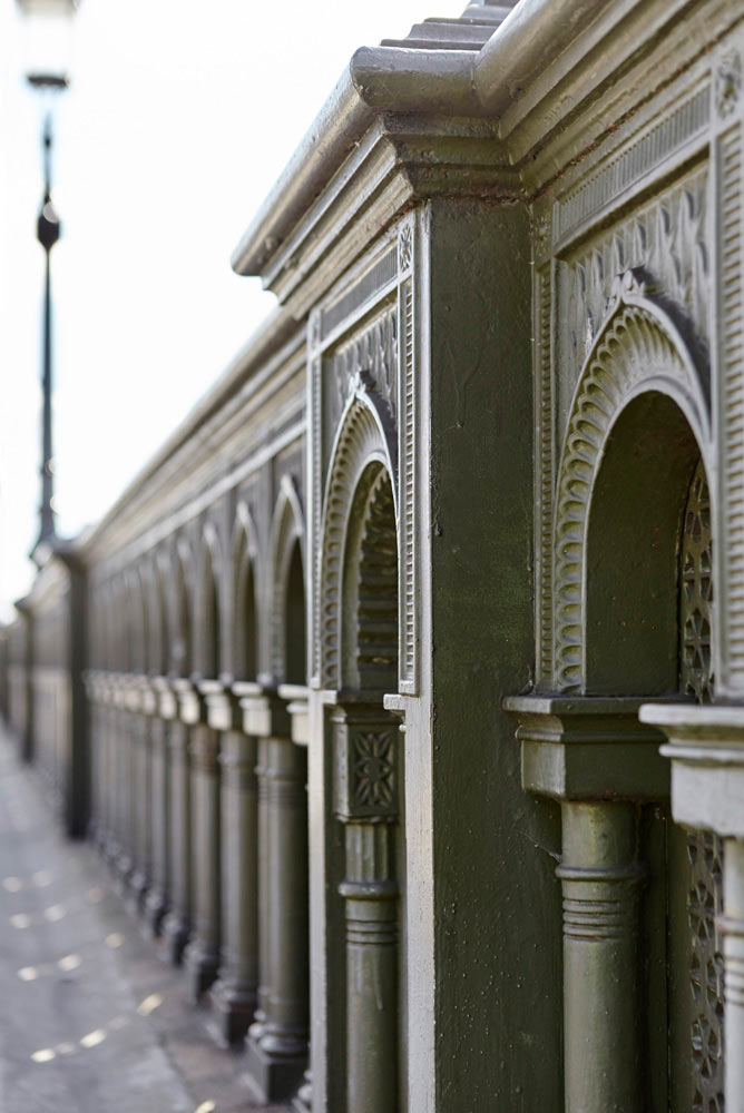 decorative work on Battersea bridge, London by Airey Spaces photgraphy