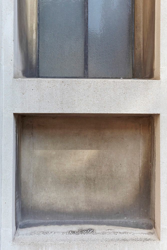 detail on concrete chapel in London by Airey Spaces photography