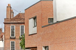 Pallant House Gallery modern extension with red brick by Airey Spaces