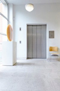 interior elevator at Pallant House Gallery by Airey Spaces