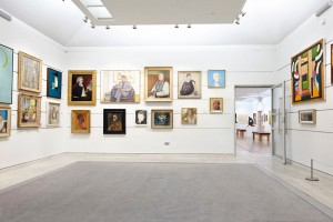 Pallant House Gallery modern extension with artwork by Airey Spaces
