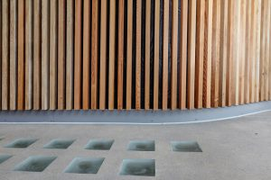wooden cladding in St Thomas hospital by Airey Spaces