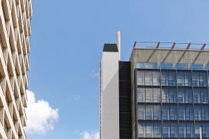 facade of new wing St Thomas hospital by Airey Spaces