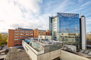 glass atrium new wing St Thomas hospital by Airey Spaces