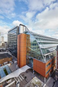 glass and brick wing St Thomas children hospital by Airey Spaces