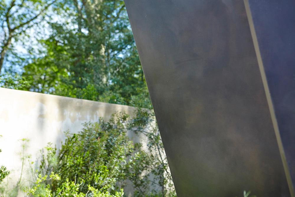 metal structure sculpture in RHS garden design by airey spaces