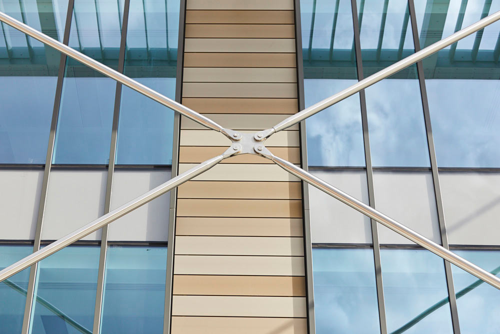 modern office exterior metal work detail by Airey Spaces
