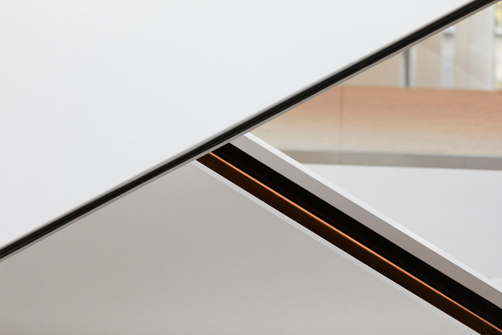 abstract detail of staircase in new modern office development by Airey Spaces