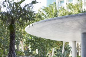 concrete canopy part of modern apartment building in Coconut Grove by Airey Spaces
