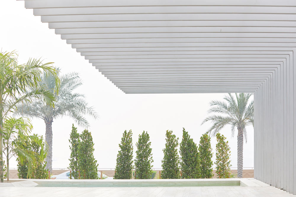 morning mist at Muraba residences modern apartments on palm Jumeirah by airey spaces
