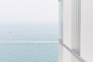 glass panels screening in modern apartments Muraba Residences on Palm Jumeirah by Airey Spaces