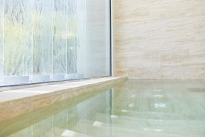 indoor plunge pool at Muraba Residences, Palm Jumeirah by Airey Spaces