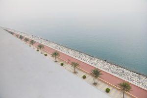 balcony sea view at Muraba Residences on Palm Jumeirah, Dubai by Airey Spaces