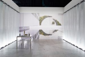 Muraba booth at Design Miami Basel with image by Airey Spaces