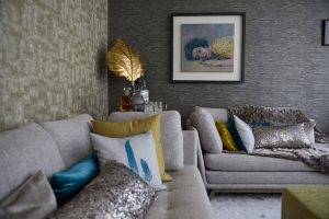 interior design by Velvet Orange colour inspiration from painting by airey spaces