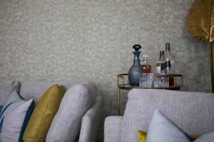 drink trolly and interior design by Velvet Orange photographed by airey spaces