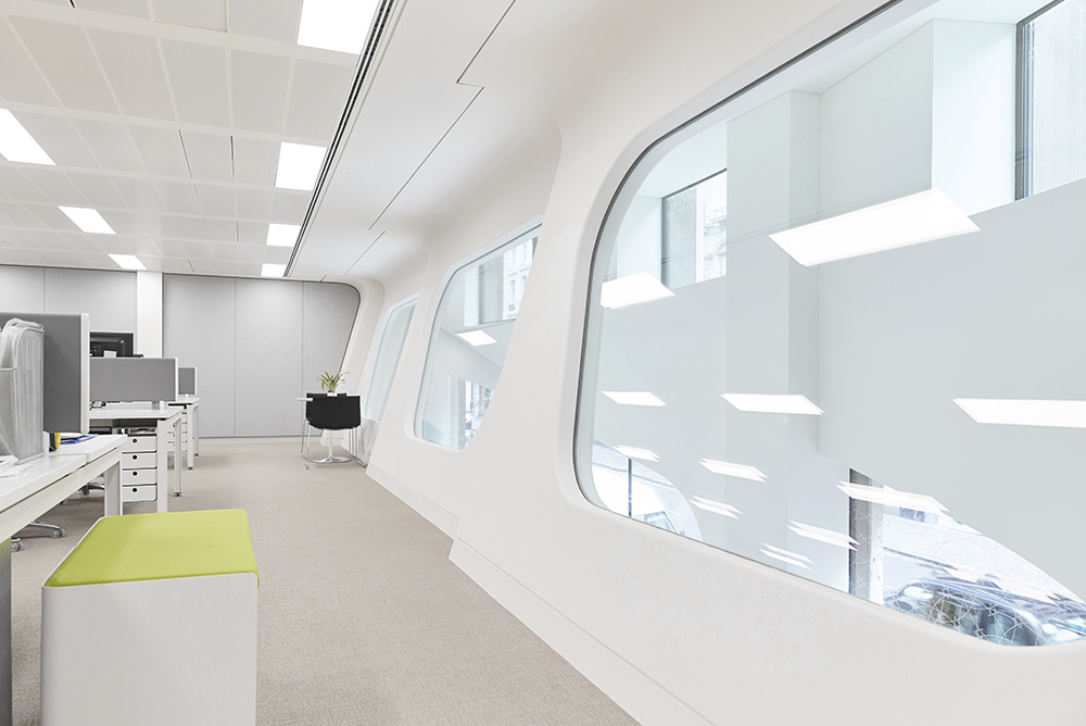 curvaceous interior office windows modern office interior by Airey spaces
