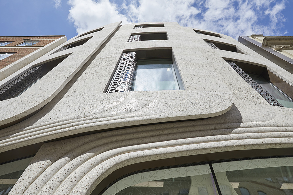 layered clad facade of modern office building London by Airey Spaces