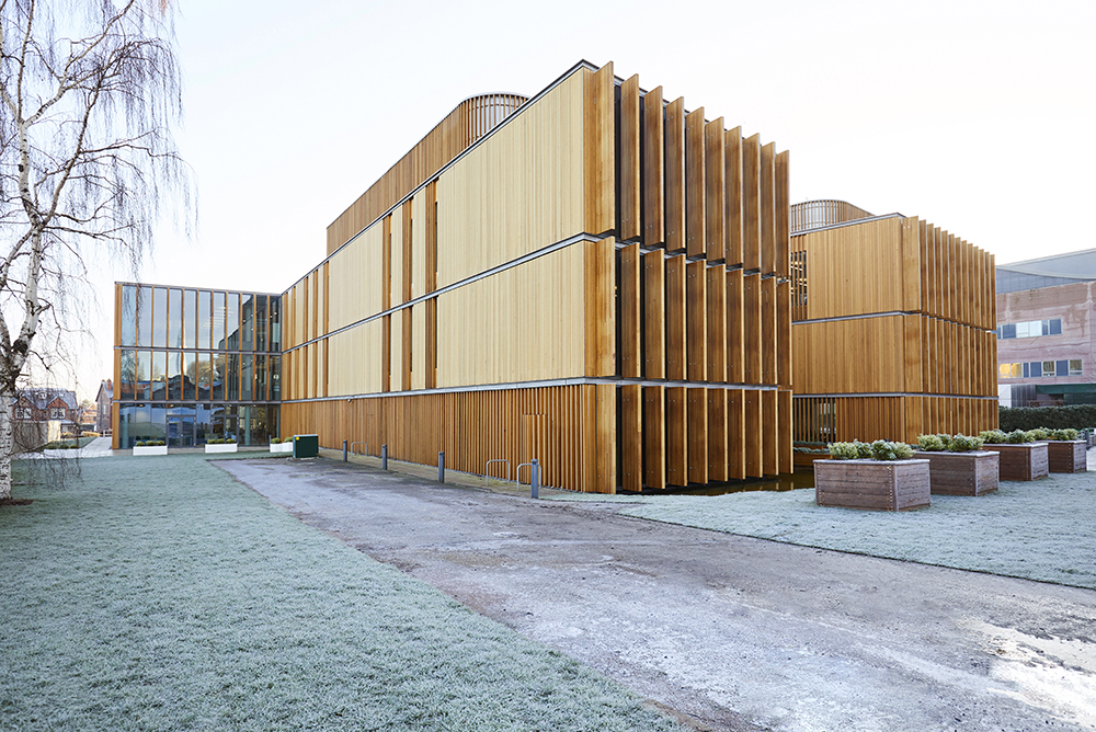 modern architecture Aldery Hey Hospital architects Hopkins photographed by Airey Spaces